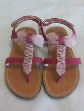 UNISA Niños Niñas Sandalias De Cuero Con Arco Rosa Talla UK 7.5 EU 25