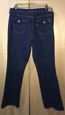 Levi's Women 515 Boot Cut Blue Jeans Denim Pants Stretch Size 16 M inseam 31