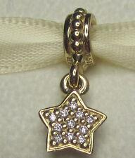 100% Authentic Genuine Pandora 14K solid gold real diamond pave star charm