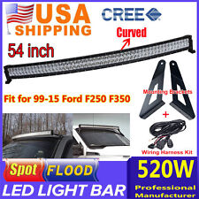 ford f53 car truck fog driving lights 1999 2015 ford f250 f350 led light bar 54inch cree wire and mount brackets fits ford f53