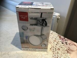 Verve Design Tobi Clip On Lamp Integrated 5W Adjustable Chrome Shade -New Boxed