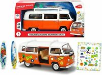 Retro Volkswagen  Surfer Camper Van with Friction Drive 32 cm 1:14