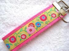 JACQUARD FLOWERS-PINK Key Fobs (really cute keychains)