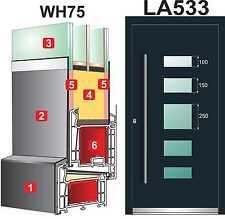 Haustür Türen  WH75 Alu Tür mit Kunststoff  LA533 inkl. Stossgriff 1400 Dortmund