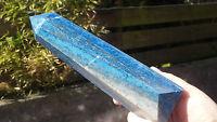 Huge Natural Afghan Lapis Lazuli Hand Carved Crystal Obelisk Column Point 926g