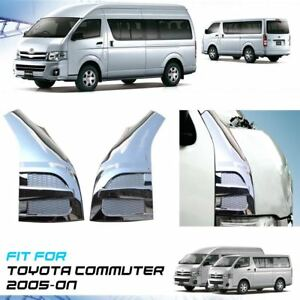 For Toyota Hiace Commuter 2005-On Chrome Honeycomb Door Pillar Cover Trim ABS