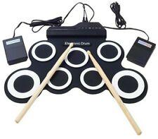 Digital E-Drum Schlagzeug Kits Pad mit Pedal Drum Sticks Weihnachtsgeschenk Neu!