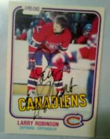 Autographed 1981-82 O-Pee-Chee #179 Larry Robinson HOF Montreal Canadiens *NM*