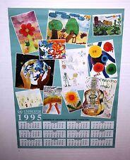 Vintage United Nations Poster UNPROFOR Yugoslavia Children Art Calendar 1995