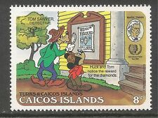 Caicos #78 (C10) VF MINT NH - 1985 8c Mickey and Goofy as Tom and Huck