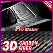 """24"""" x 60"""" 3D Black Carbon Fiber Premium Sticker Vinyl Wrap Bubble Free Release 3"""