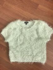 Topshop cropped chunky knit Fluffy Jumper. Size 8