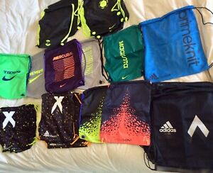 New Nike/Adidas String Bag Gym Drawstring Soccer Cleats Backpack *Choose Style