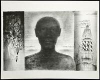 """DDR-Kunst. """"Der Mensch"""", 1977. Lithogr. Andreas DRESS (1943-2019 D) handsigniert"""