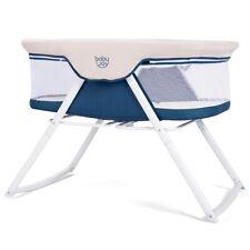 Foldaway Baby Bassinet Crib Newborn Rocking Sleeper Traveler Portable /Bag Beige