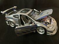Muscle Machines 2002 Acura RSX Diecast Model 1:18 Scale Silver/Blue