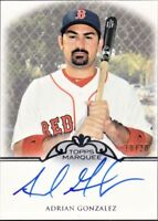 RARE 2011 TOPPS MARQUEE MONUMENTAL MARKINGS AUTOGRAPHS #AG ADRIAN GONZALEZ /20