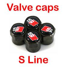 Audi Valve Cap S Line Car Sline Black Wheel Tire Metal Tyre Anti-Theft Air Stem