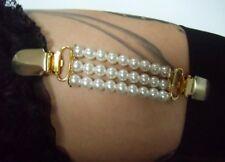1 Porte Jarretelle à l'unité élastiques perles blanches glamour pinup sexy