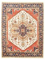 "Hand-knotted  Carpet 8'9"" x 11'7"" Serapi Heritage I Traditional Wool Rug"