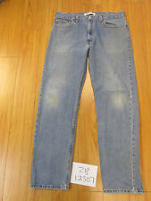 Used 505 regular fit levi's jean tag 38x34 meas 37x33.5 zip12307