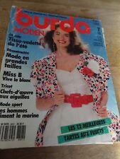MAGAZINE BURDA VINTAGE  MODEN MISS B VIVE LE BLANC CHIC ET ELEGANT   7/1988