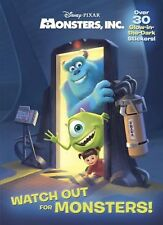 Watch Out for Monsters! Disney/Pixar Monsters, Inc. Glow-in-the-Dark Sticker