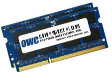 OWC 8GB Dual Channel SO-DIMM PC3-10600 DDR3 1333MHz SO-DIMM 204 Pin CL9 (2x 4GB)