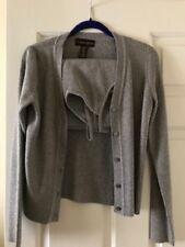 Classiques Entier Women Sweater Cardigan Twin Set, Silver, Size M