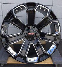 """24"""" GMC Yukon Denali Chevy Black Wheels Rims TIRES Silverado Sierra Tahoe 6Lug"""