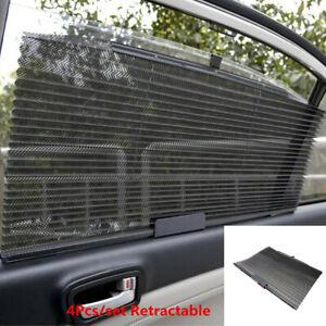 4x Universal Car Side Window Curtain Sunshade Windshield Sun Shield Visor Mesh