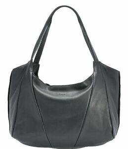 Hammitt Ferris Black Hobo Leather Bag Purse Gunmetal large Slouchy Handbag NEW