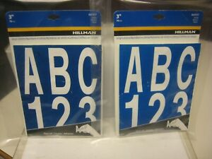 "HILLMAN 847017 3"" INDIVIDUAL DIE-CUT WHITE LETTERS & NUMBERS SETS - 2 PK."