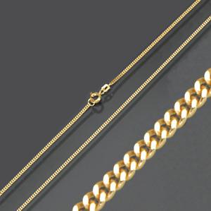 Gold plattierte Double Halskette Collier Kette Flachpanzerkette Panzerkette