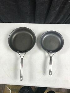 "2 - Calphalon Unison Slide Non-Stick Frying Pans Model 1388-8"" & 1390-10"" USA"