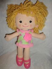 "Playskool Dressy Daisy Rag Doll Baby15"" Plush Soft Stuffed Animal"