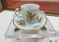 """CZECH L.C. BERNADOTTE SONATA YELLOW ROSE 2 1/8"""" DEMITASSE CUP & SAUCER 1960's"""