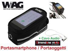 """2121 - Borsa Porta Smartphone-Attrezzi-Oggetti """"WAG"""" per Bici 26-28 Corsa -Pista"""