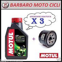 3 x litri OLIO MOTUL 5100 10/40 10W40 MA2 4T + FILTRO OLIO T MAX 500 2003 - 2004