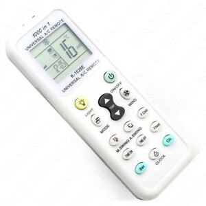 Universal Air Conditioner Remote Control LCD A//C Conditioning Controller 1000 in 1 for MITSUBISHI TOSHIBA HITACHI FUJITSU DAEWOO LG SHARP SAMSUNG ELECTROLUX SANYO AUX GREE HAIER HUAWEI Air Condition