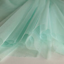 Mint Pastel Green Soft Tulle Bridal Fabric with drape 150cm wide - by the metre