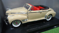 CHEVROLET DELUXE Cabriolet 1941 beige 1/18 d UNIVERSAL HOBBIES voiture miniature