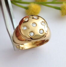 ANELLO IN ORO 18KT CON DIAMANTI NATURALI- 18KT SOLID GOLD DIAMONDS RING