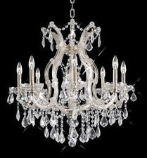 Palace 9 Light Maria Theresa Crystal Chandelier Light  Chome