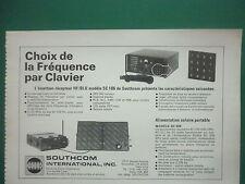 3/1977 PUB SOUTHCOM ESCONDIDO EMETTEUR RECEPTEUR HF/BLU SC 106 SC 805 FRENCH AD