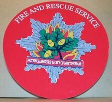 Fire and Rescue Service Nottinghamshire & City of Nottingham vinyl sticker.
