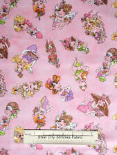 Loralie Harris Designs Hey Cupcake Ladies Fashion 21970 Pink Cotton Fabric YARD