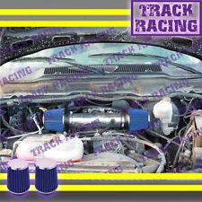 DUAL 04 05-11 DODGE DAKOTA/DURANGO/RAM/NITRO 3.7L V6 TWIN AIR INTAKE Black Blue