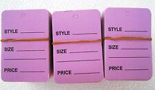 "300 Pcs. 1-1/4""X1-7/8 Lavender Cloth Price Hanging Lables"