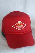 DIAMOND REO  TRUCKERS HAT WITH PATCH, ADJUSTABLE SNAP BACK, BRIGHT RED